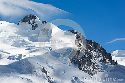 Dufourspitze of Monte Rosa mountain peak