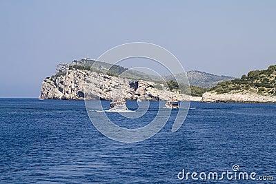 Dugi Otok Cliff at Kornati Islands, Croatia.