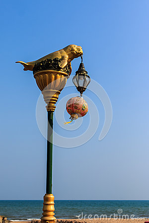 Free Dugong Statue On Electricity Post Stock Photo - 39650590
