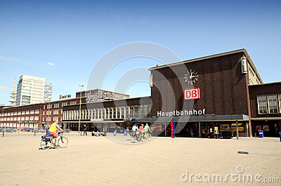 Duisburg Central Station Editorial Stock Photo