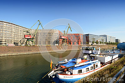 Duisburg Inner Harbor Editorial Photo