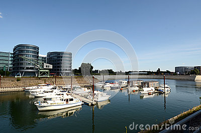 Duisburg Inner Harbor Editorial Stock Photo