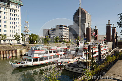 Duisburg Inner Harbour  - Gerhard Mercator boat Editorial Photography