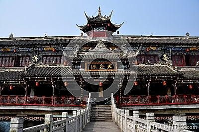 Dujiangyan, China: Lang Qiao Covered Bridge