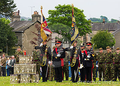 Duke of Lancaster Regiment Ceremony Editorial Image