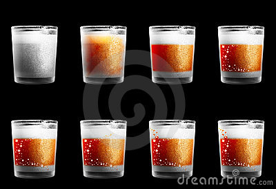 Dull drinking glasses with a texture