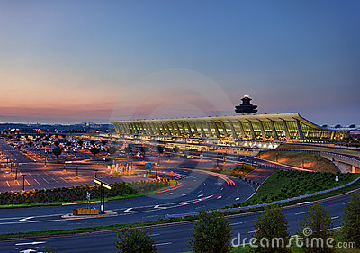 Dulles airport at dawn near Washington DC Editorial Photography
