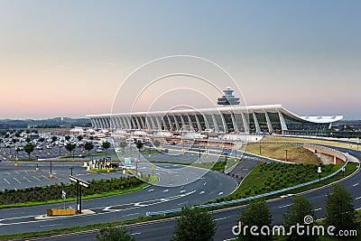 Dulles airport at dawn near Washington DC Editorial Image