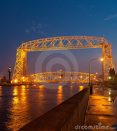 Free Duluth Aerial Lift Bridge Stock Photos - 21034483