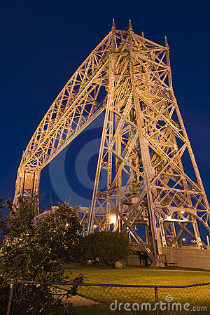 Free Duluth Minnesota Lift Bridge At Night Royalty Free Stock Photo - 14537175