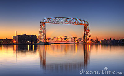 Duluth Minnesota Lift Bridge Dawn
