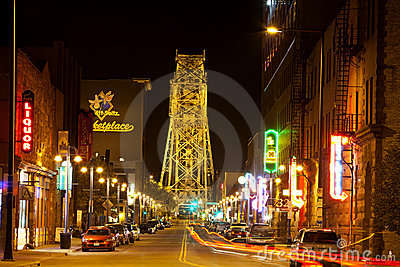 Duluth Nightlife Editorial Stock Image