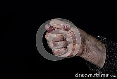 Dulya with dirty hand - rude gesture