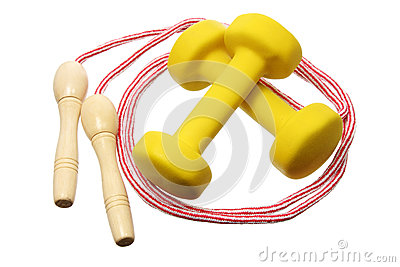 Dumb Bells and Skipping Rope