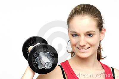 Dumbbell girl