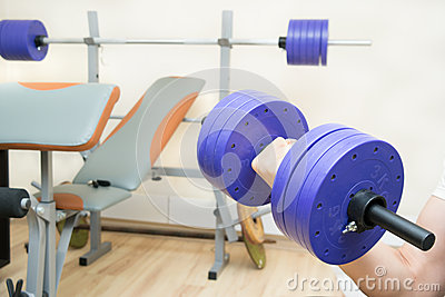 Dumbbell and gym