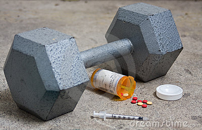Dumbbell with Steroids and Needle