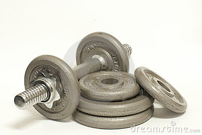 Dumbbells isolated