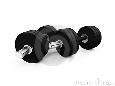 Dumbbells isolated view