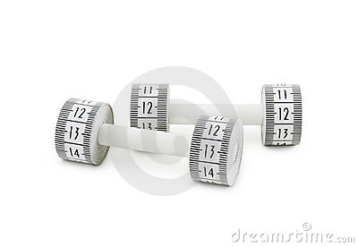 Dumbbells made of tape measure