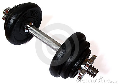 Dumbell (with clipping path)
