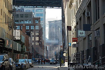 DUMBO -- a trendy neighborhood in New York City Editorial Image