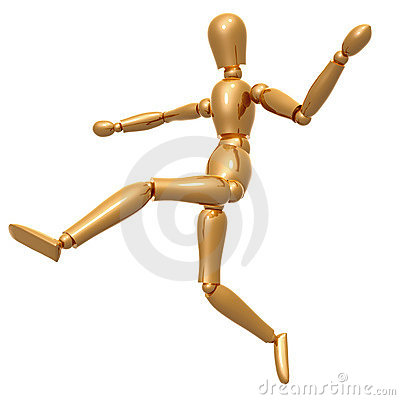 Dummy figure on dancing pose