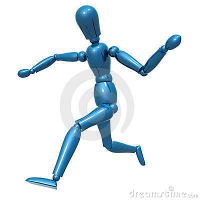 Dummy figure on dancing pose