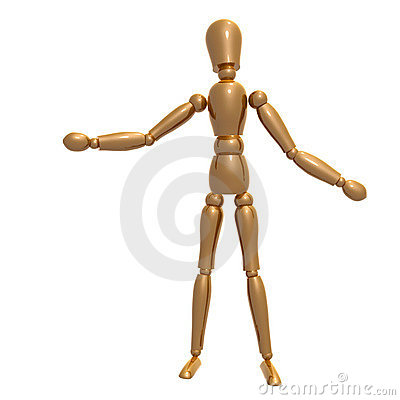 Dummy figure on welcome pose