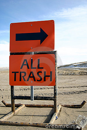 Dump Sign All Trash