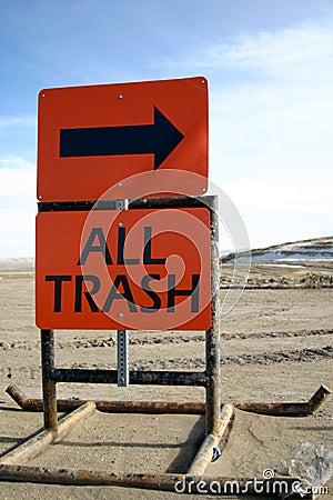 Dump Sign All Trash