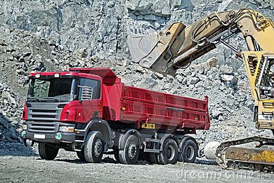 Dump Truck and Excavator