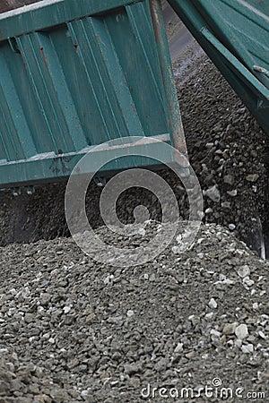 Dumping rocks