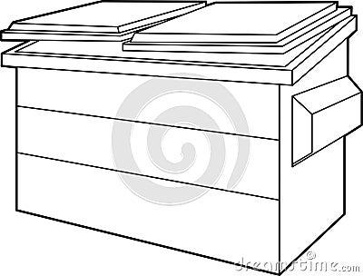 Dumpster Stock Image - Image: 8088891