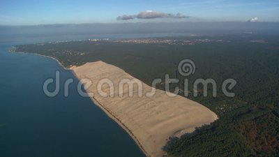 Duna de areia de Pyla video estoque
