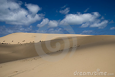Dunas de arena en Mozambique, África
