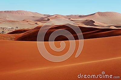 Dunas de arena rojas