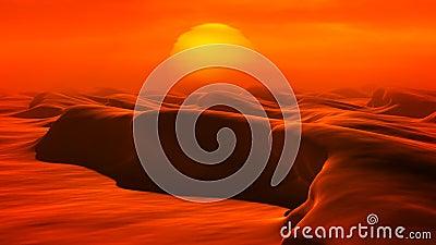 Dunas do deserto (laço) ilustração stock