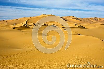 dune in blue sky desert, Libya