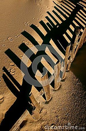 Free Dune Fence Royalty Free Stock Images - 2333579