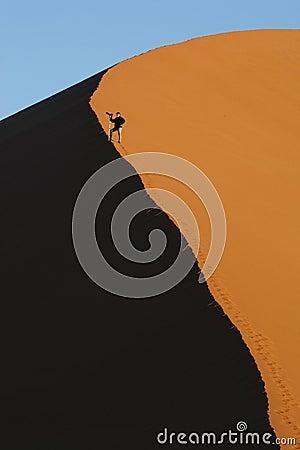 Free Dune Walking In The Namib Desert - Namibia Stock Images - 15252344