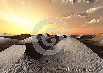 Dunes and desert Stock Photo