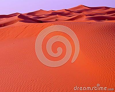 Dunes in the desert of Morocco