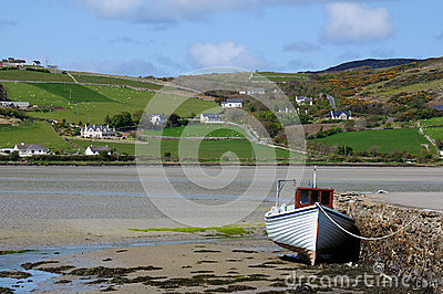 Dunfanaghy harbor in Donegal Ireland horizontal