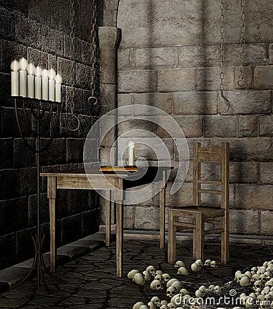 Dungeon with skulls