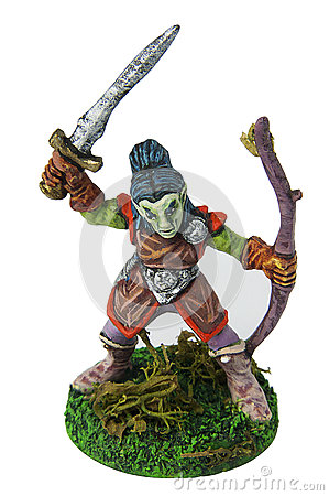 Free Dungeons And Dragons Elf Miniature Royalty Free Stock Photos - 44895598