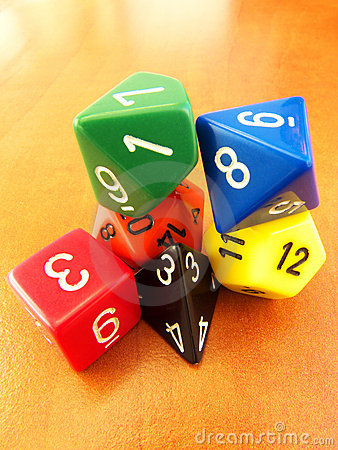 Dungeons & Dragons dice set for role playing games
