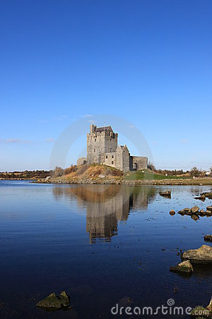 Dunguaire  castle at Kinvara bay, Ireland.