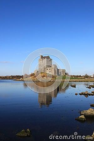 Dunguaire  castle at Kinvara bay, Ireland.