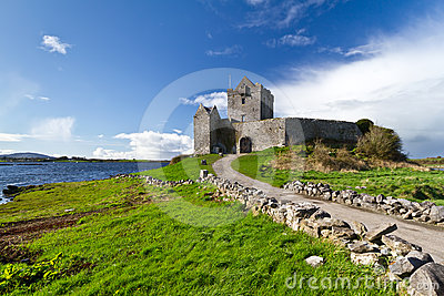 Dunguaire castle at the ocean